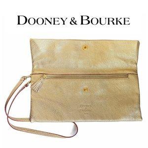 Dooney & Bourke Metallic Gold Wrist / Shoulder Bag